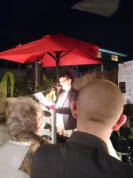 Isobelle Carmody launches Trent Jamieson's Day Boy, June 25 2015