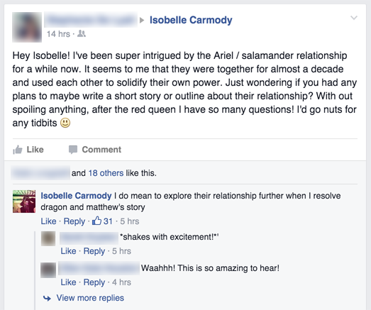 Isobelle Carmody teases an Obernewtyn Chronicles short story, starring Matthew and Dragon, and featuring more exploration of Salamander and Ariel's relationship
