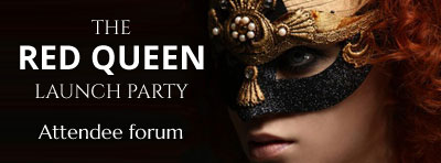 The Red Queen Masked Ball party, for Isobelle Carmody final Obernewtyn Chronicles book